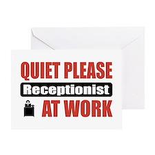 Receptionist Work Greeting Card