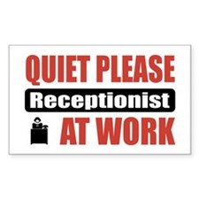 Receptionist Work Rectangle Decal