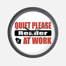 Reader Work Wall Clock