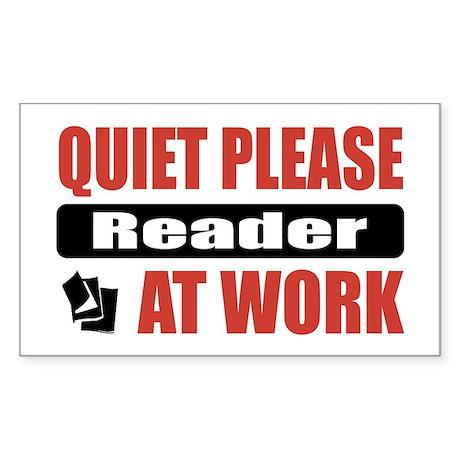 Reader Work Rectangle Sticker