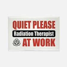 Radiation Therapist Work Rectangle Magnet