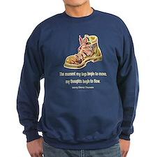 Thoreau Quote Hiking Sweatshirt