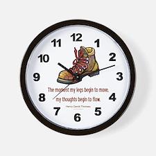 Thoreau Quote Hiking Wall Clock