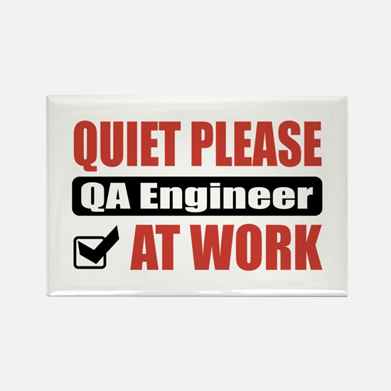 QA Engineer Work Rectangle Magnet