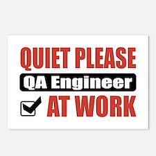 QA Engineer Work Postcards (Package of 8)