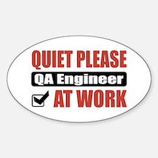 QA Engineer Work Oval Decal