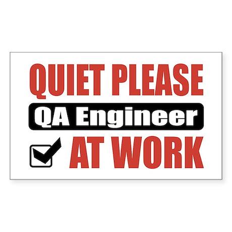 QA Engineer Work Rectangle Sticker
