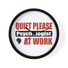Psychologist Work Wall Clock