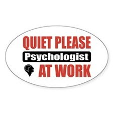 Psychologist Work Oval Decal