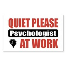Psychologist Work Rectangle Decal