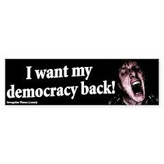 Democracy Back Bumper Bumper Sticker