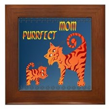 PurrFect Mom Framed Tile