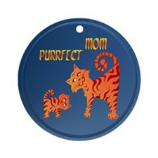 PurrFect Mom Ornament (Round)