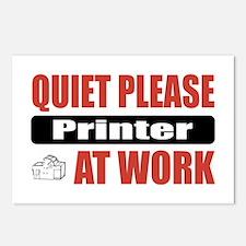 Printer Work Postcards (Package of 8)