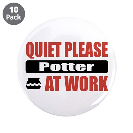 "Potter Work 3.5"" Button (10 pack)"