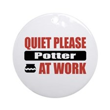 Potter Work Ornament (Round)