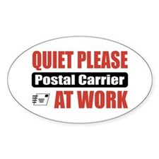 Postal Carrier Work Oval Decal