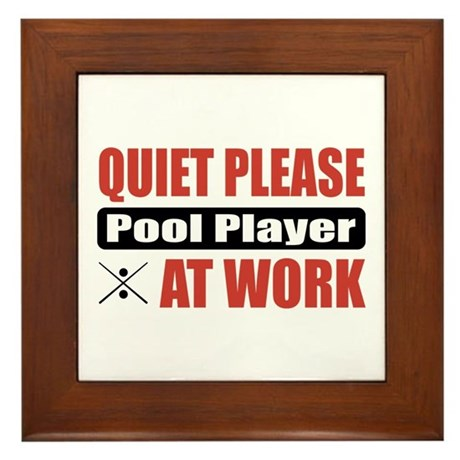 Pool Player Work Framed Tile