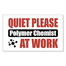 Polymer Chemist Work Rectangle Decal