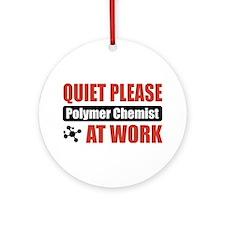 Polymer Chemist Work Ornament (Round)