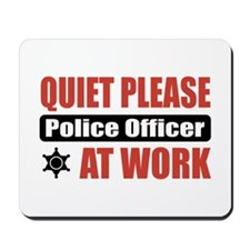 Police Officer Work Mousepad