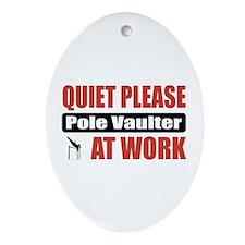 Pole Vaulter Work Oval Ornament