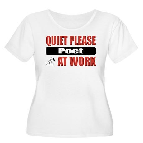 Poet Work Women's Plus Size Scoop Neck T-Shirt