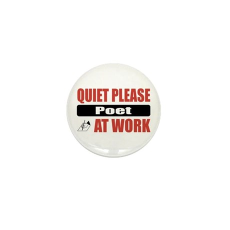 Poet Work Mini Button (100 pack)