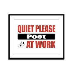 Poet Work Framed Panel Print