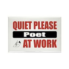 Poet Work Rectangle Magnet (10 pack)