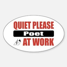 Poet Work Oval Decal