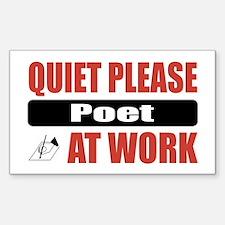 Poet Work Rectangle Decal