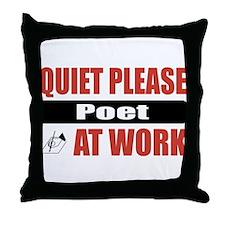 Poet Work Throw Pillow