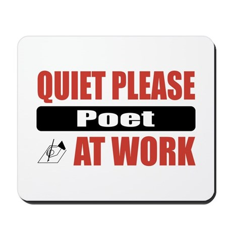 Poet Work Mousepad