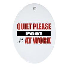 Poet Work Oval Ornament