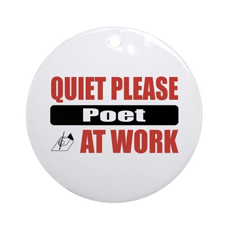 Poet Work Ornament (Round)
