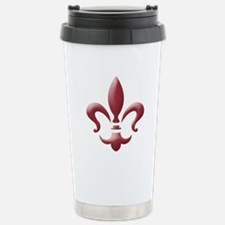Fleur Stainless Steel Travel Mug (red)