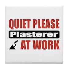 Plasterer Work Tile Coaster