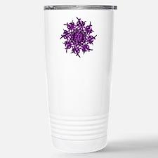 Sun Burst Stainless Steel Travel Mug (purple)