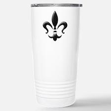 Fleur Stainless Steel Travel Mug (black)