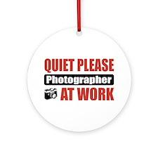 Photographer Work Ornament (Round)