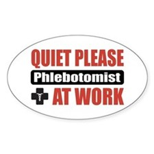 Phlebotomist Work Oval Decal