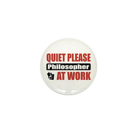 Philosopher Work Mini Button