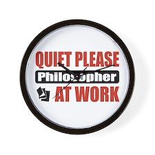 Philosopher Work Wall Clock