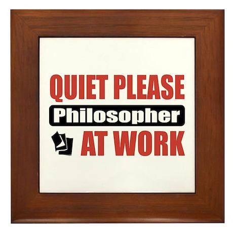 Philosopher Work Framed Tile