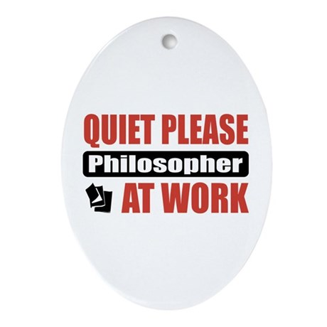 Philosopher Work Oval Ornament