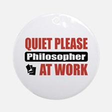 Philosopher Work Ornament (Round)