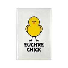 Euchre Chick Rectangle Magnet