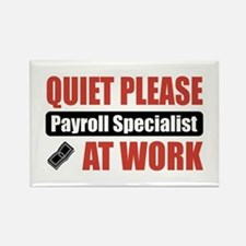 Payroll Specialist Work Rectangle Magnet
