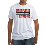 Patent Attorney Work Fitted T-Shirt